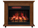Willow Mantle w/Electric Fireplace
