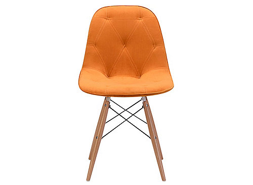 Raymour And Flanigan Orange Dining Chairs