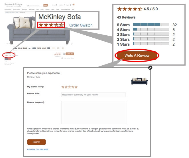 Select Write A Review and enter your rating and review comments