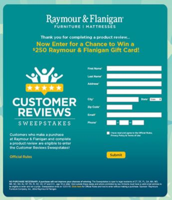 Enter The Sweepstakes For Your Chance To Win!